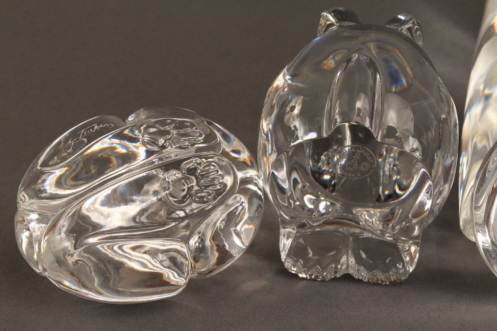 Lot 167: Steuben & Baccarat glass animals, lot of 3