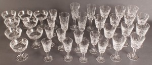 Lot 169: Set of Waterford Lismore Crystal, 34 pieces