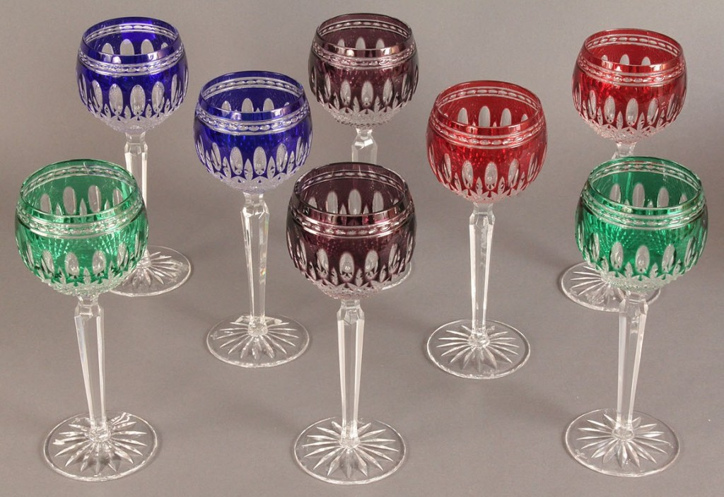 Lot 170: Lot of 8 Waterford Hoch  Wine Glasses