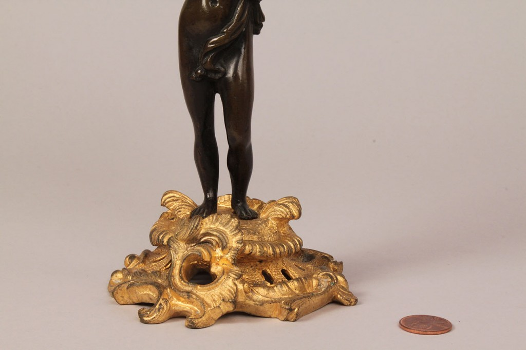 Lot 175: Pair of Gilt Bronze Bacchus Figural Candleabra