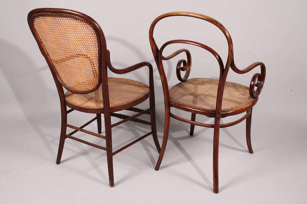Lot 184: Lot of 2 Thonet Bentwood Armchairs