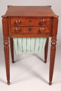 Lot 185: Sheraton Mahogany Sewing Table