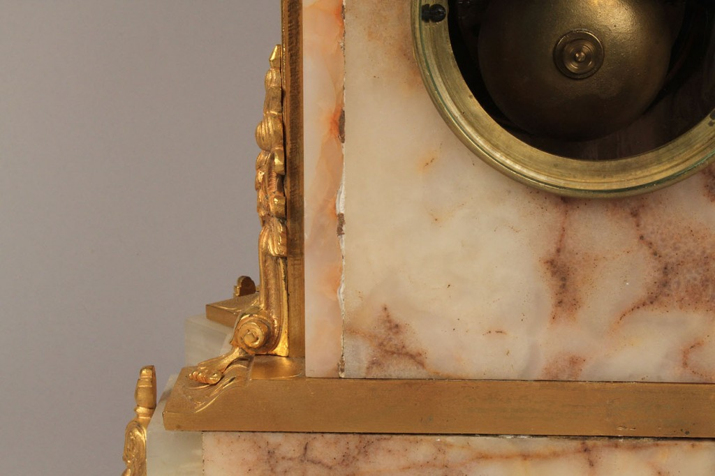 Lot 192: French Marble & Gilt Bronze Clock