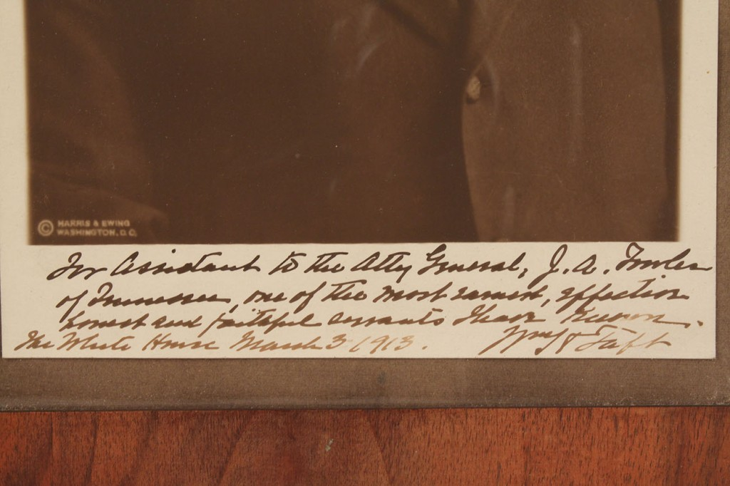 Lot 198: Signed photo of President William Taft, 1913