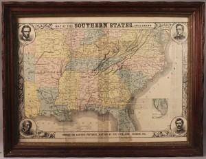 Lot 1: Harper's Southern States Civil War Map