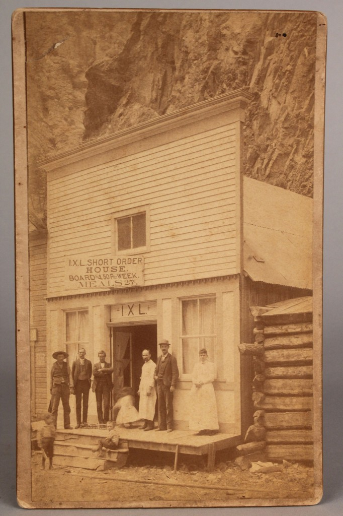 Lot 206: 1892 Cabinet card, Colorado Mining Town