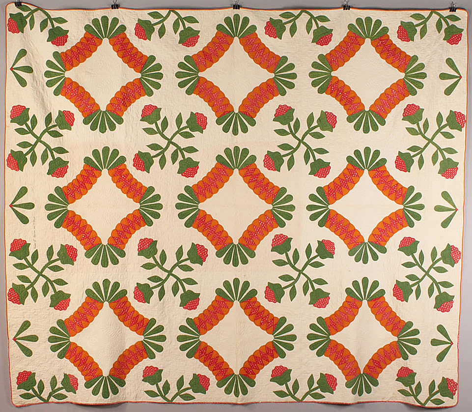 Lot 20: American quilt, signed & dated 1852, TN history