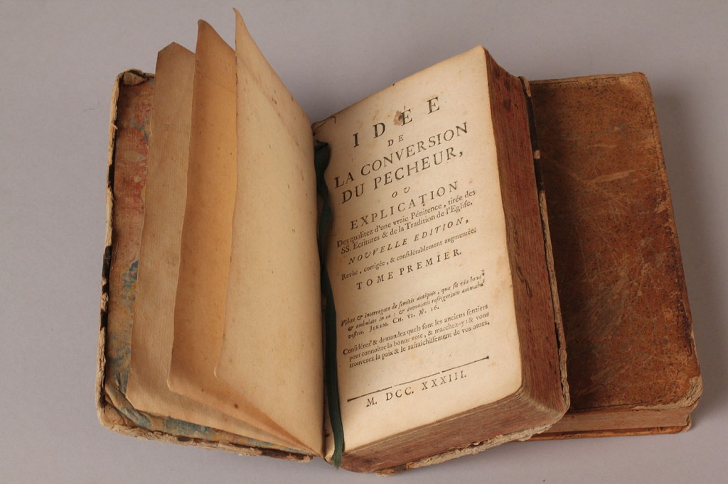 Lot 214: 2 German Maps and 4 French books, 18th c.