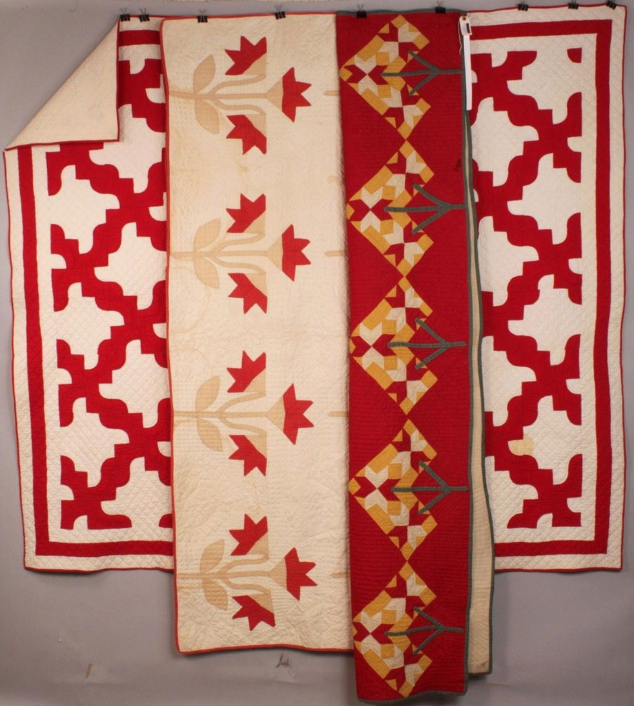 Lot 21: Lot of 3 Southern Pieced & Applique Quilts