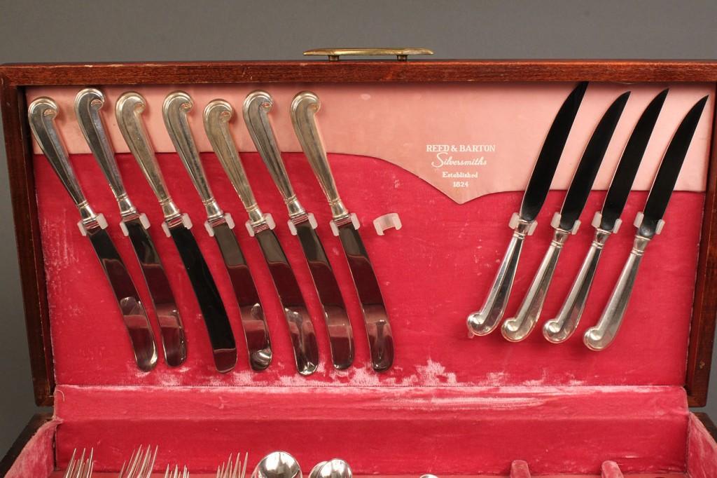 Lot 220: Steiff sterling flatware, 61 pieces