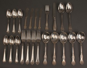 Lot 228: Lot of 23 pieces assd. sterling flatware
