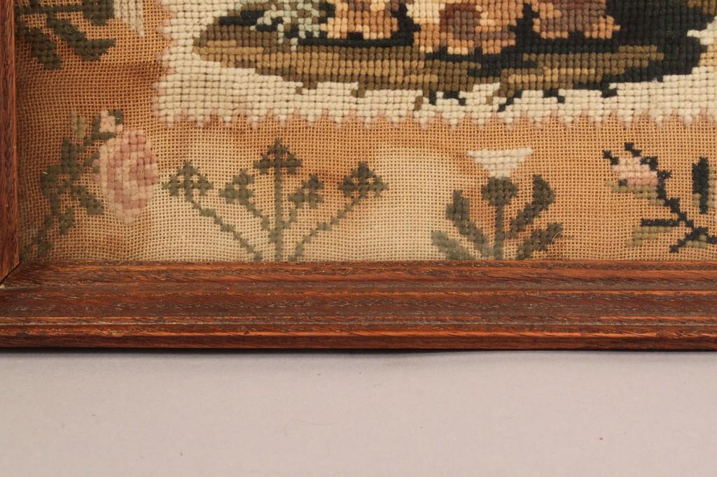 Lot 22: Canadian silk & wool needlework sampler, 1832