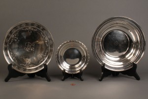 Lot 231: 3 Sterling Silver Serving Pieces