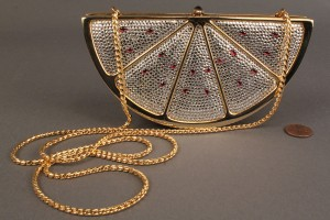 Lot 256: Judith Leiber Watermelon Minaudiere Purse