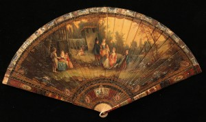 Lot 258: Ivory or Bone Fan, signed
