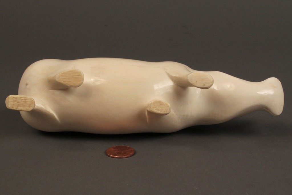 Lot 259: Carved Ivory Figure of Rhinoceros
