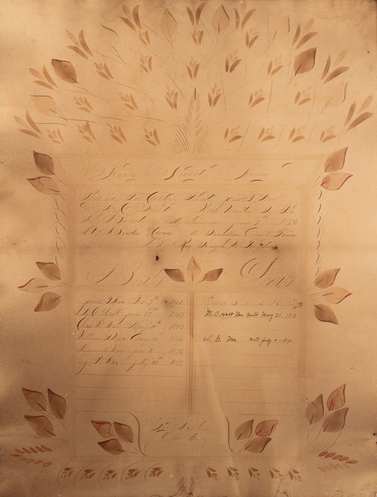 Lot 25: East Tennessee Family Register Theorem