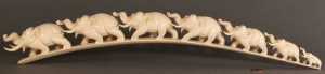 Lot 260: Asian carved tusk of Elephant parade