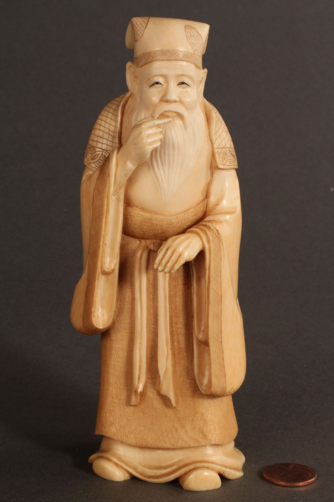 Lot 272: Asian Ivory Scholar figure