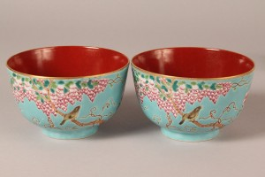 Lot 278: Pair of Chinese DaYazhai bowls, Guang Xu mark