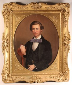 Lot 28: Alabama portrait, oil on canvas, 19th century