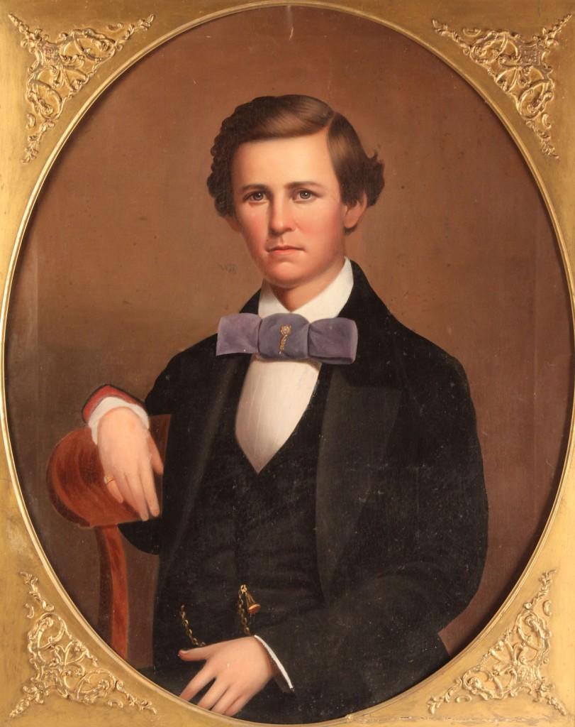 Lot 28: Alabama portrait, oil on canvas, 19th century