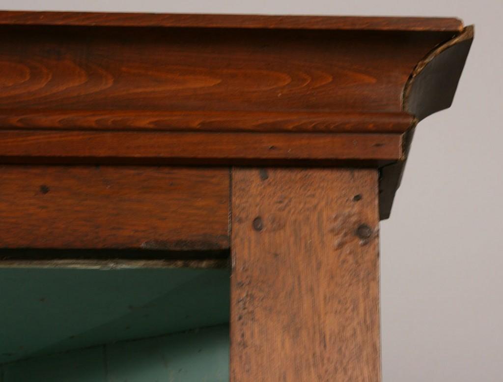 Lot 294A: East TN Walnut Corner Cupboard