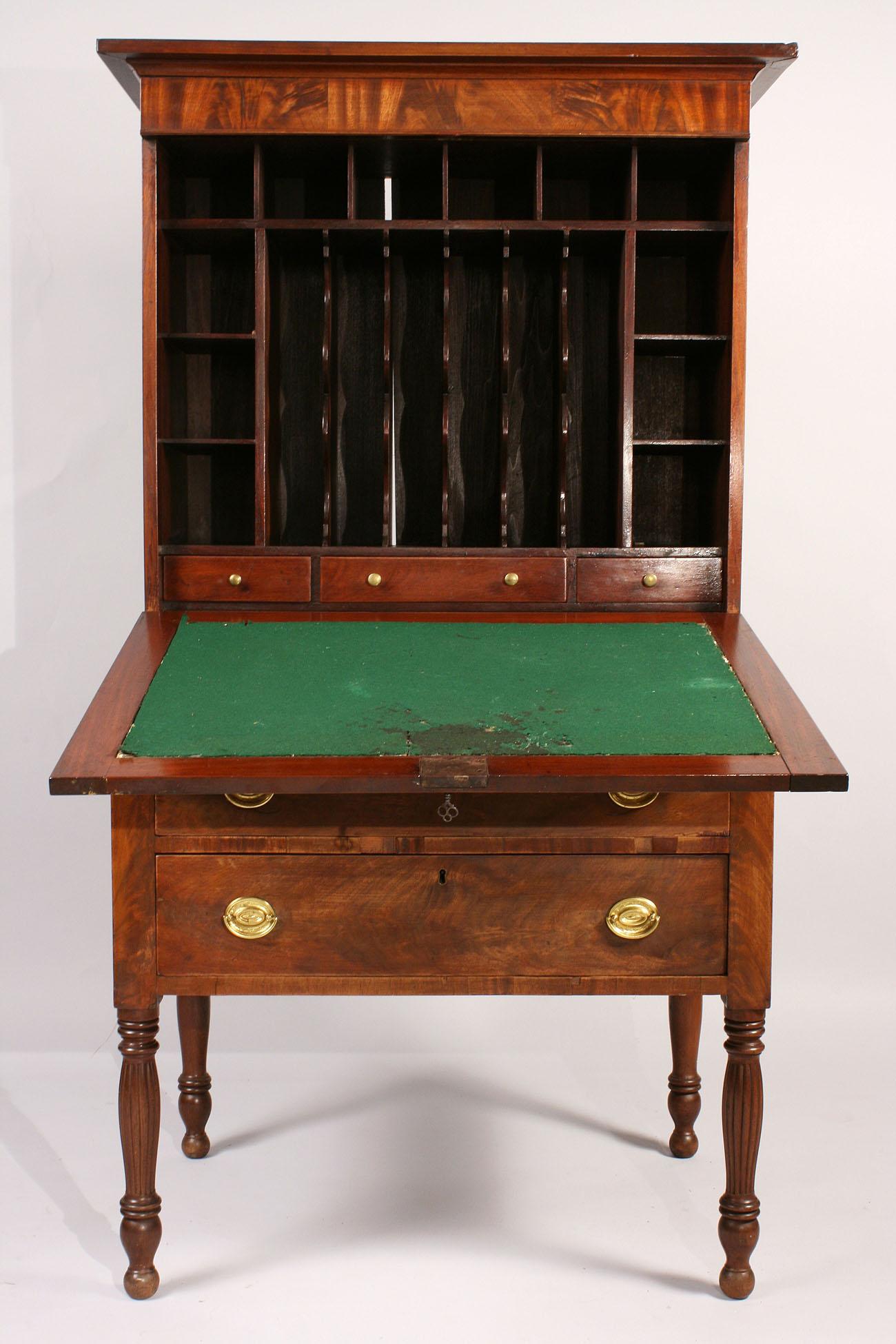 Lot 299 Sheraton Mahogany Plantation Desk