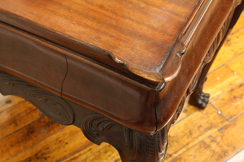 Lot 300: Chippendale style Tea Table with Paw Feet