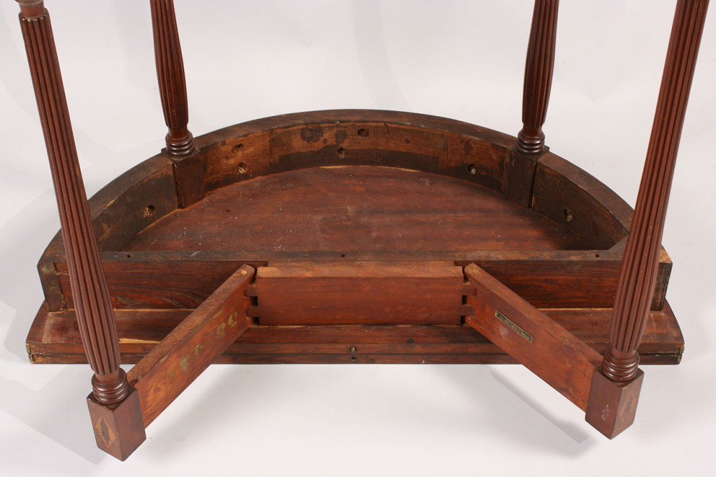 Lot 301: Federal Style Mahogany Inlaid Card Table