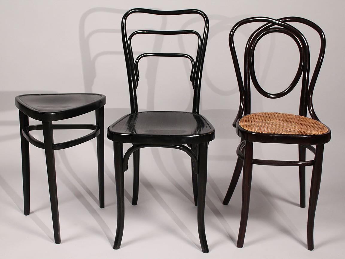 Thonet Bentwood Furniture, Ebonized Finish