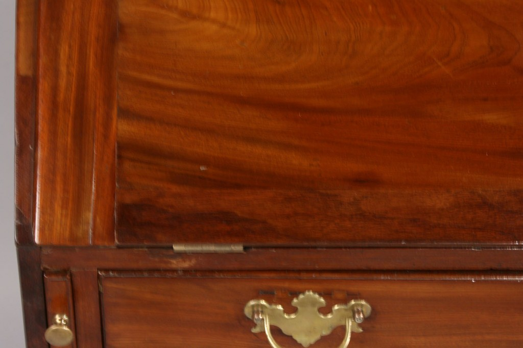 Lot 303: English Chippendale style mahogany secretary