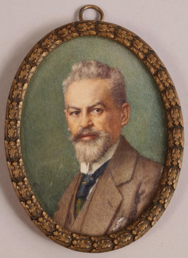 Lot 312: Russian School, Miniature portrait of a gentleman