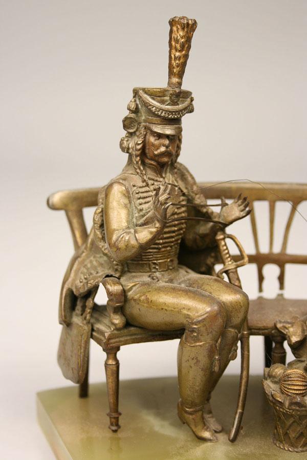 Lot 319: Bronze sculpture after Maxim