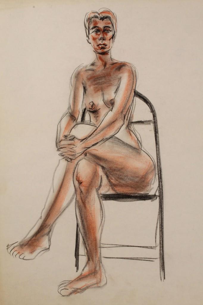 Lot 31: Joseph Delaney (NY/TN) Nude Pastel