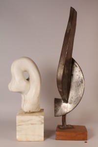 Lot 320: Two abstract sculptures incl. Dennis Peacock