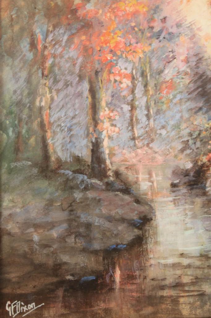 Lot 322: Lot of 2 George Frank Dixon Watercolors