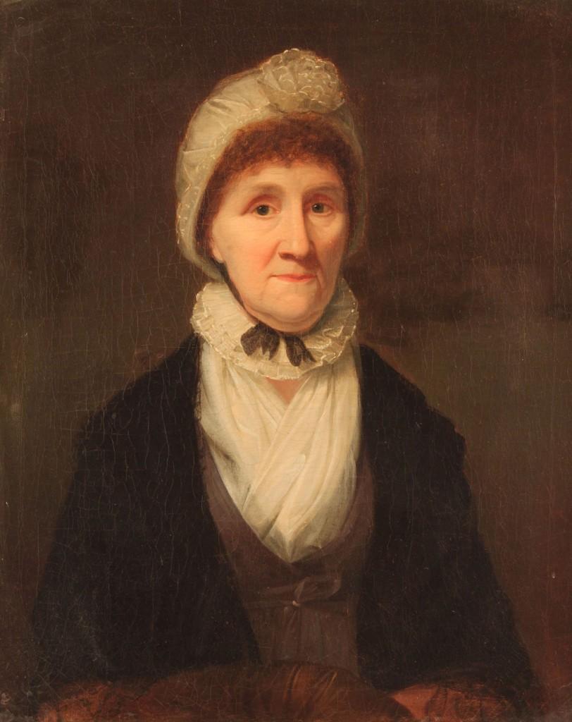 Lot 324:  Attr. John Wesley Jarvis, portrait of Eva White