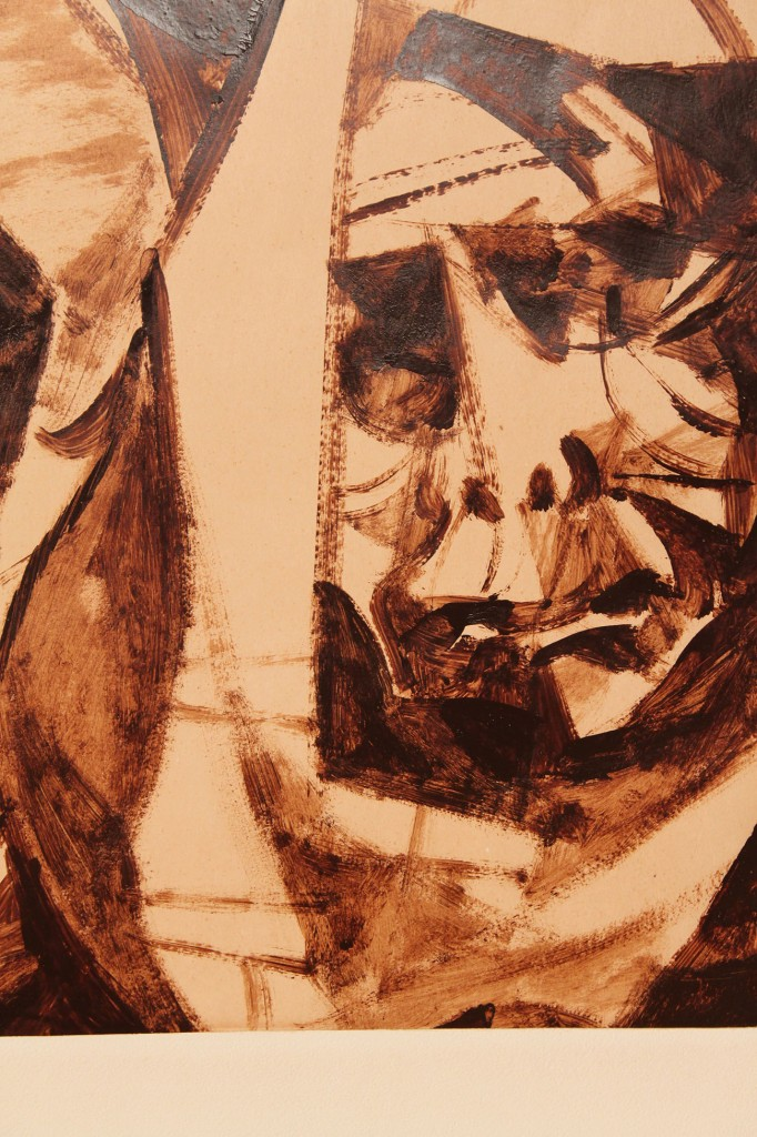 Lot 327: Romeo Tabuena, Oil on Paper triptych