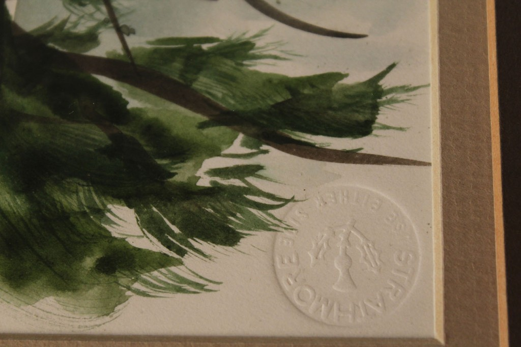 Lot 331: Jim Gray watercolor, Forest Pine