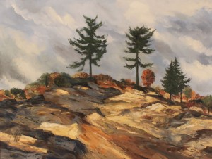 "Lot 332: Charles Kermit Ewing Landscape, ""Twin Pines"""