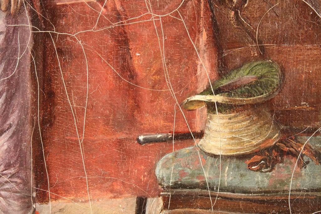 Lot 337: Jeno Kemendy oil on canvas, Genre Scene