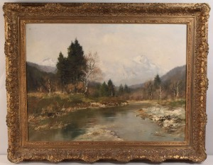 Lot 339: M. Burger, German, Landscape, 20th century