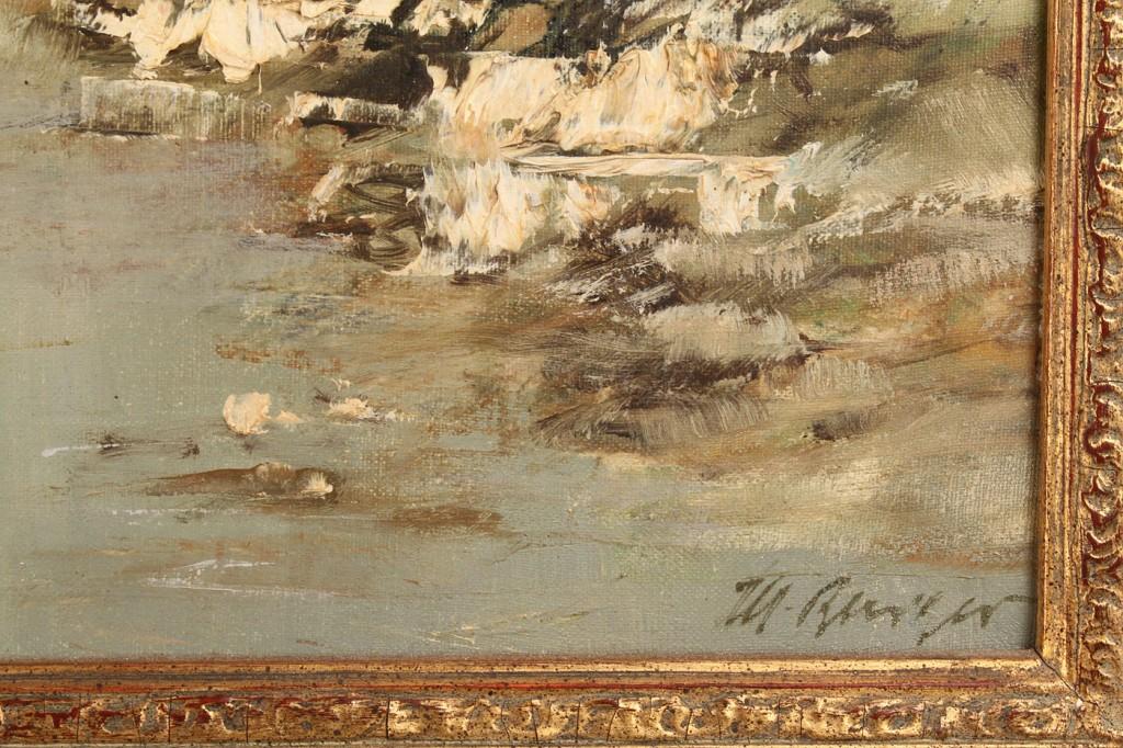 Lot 339: M. Burger, German, Landscape, 20th century