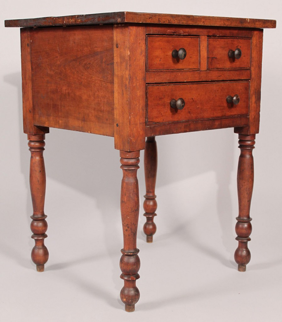 Lot 33: Rare Southern 3-drawer cherry stand, KY