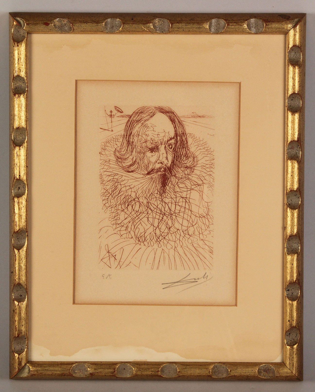 Lot 341 Salvador Dali Etching Quot Cervantes Quot Amp Litho