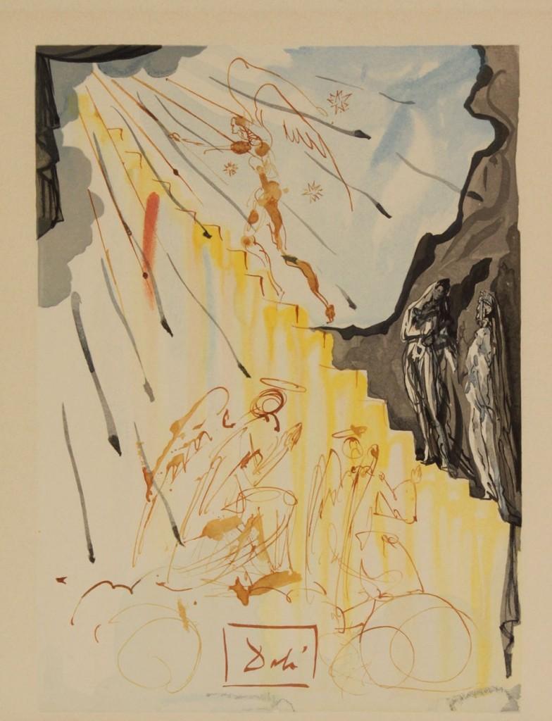 """Lot 341: Salvador Dali Etching, """"Cervantes,"""" & litho"""