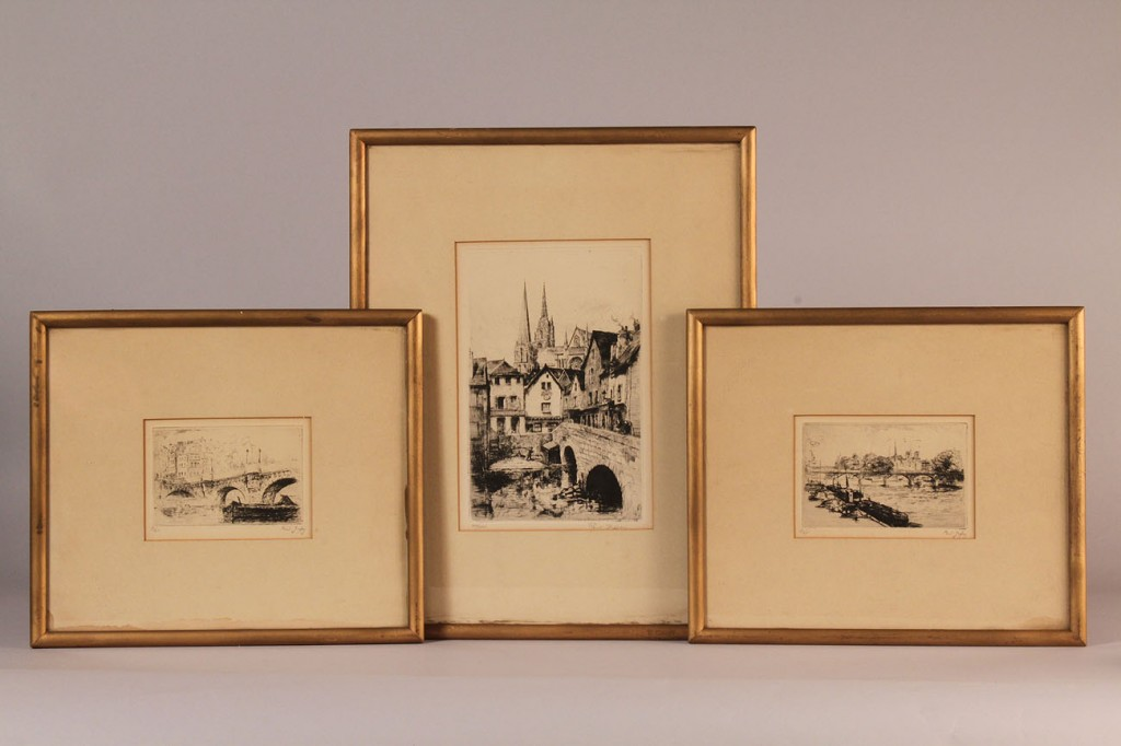 Lot 342: Paul Jeffay French Etchings, lot of 4