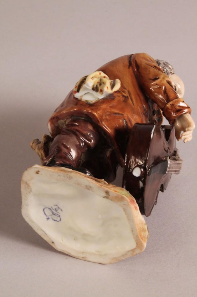 Lot 348: Three pcs French Porcelain + Capodimonte figure