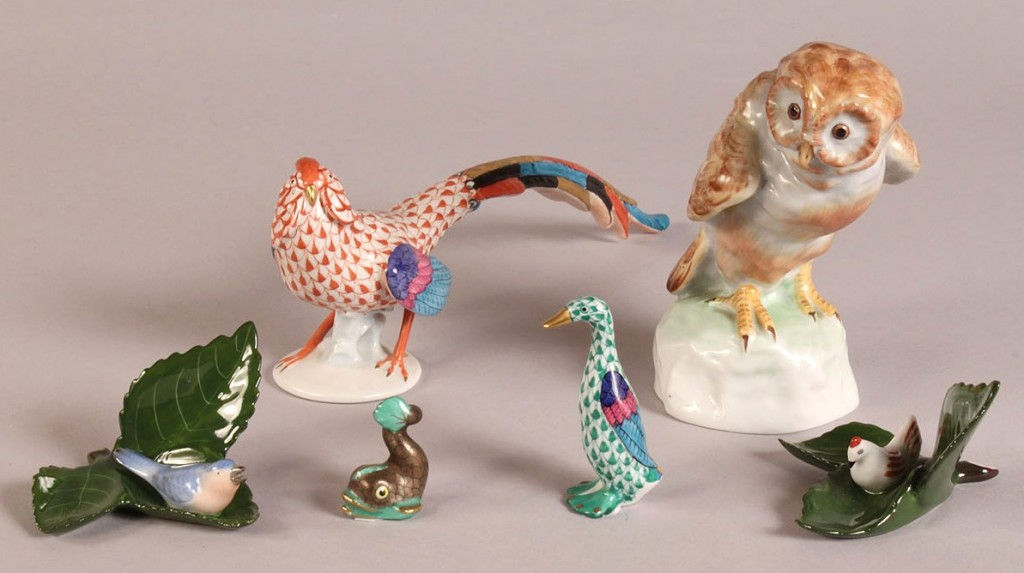 Lot 349: Lot of 6 Herend figurines